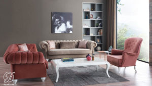 Kursi Sofa Tamu Duco Modern Chester Violet