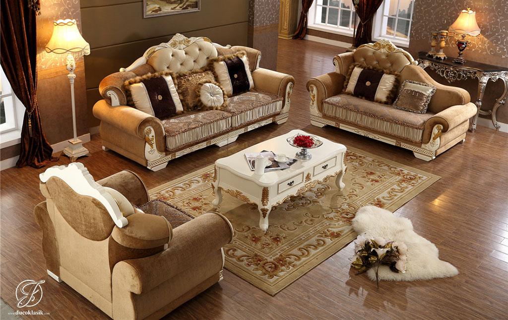 Kursi Sofa Tamu Duco Putih Eropa Modern