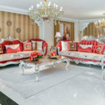 Kursi Sofa Tamu Duco Ukir Rose Modern
