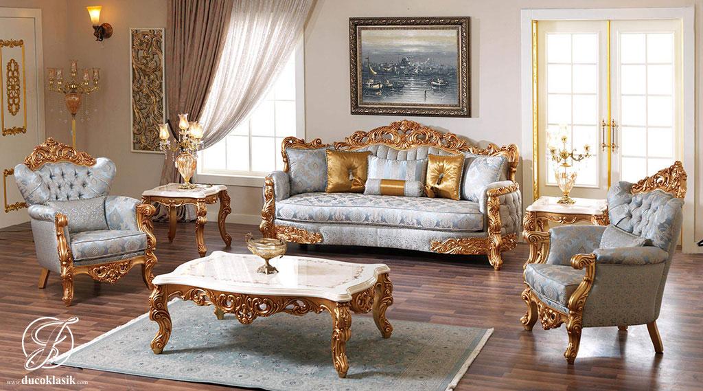 Kursi Sofa Tamu Klasik Beren Ukir Modern