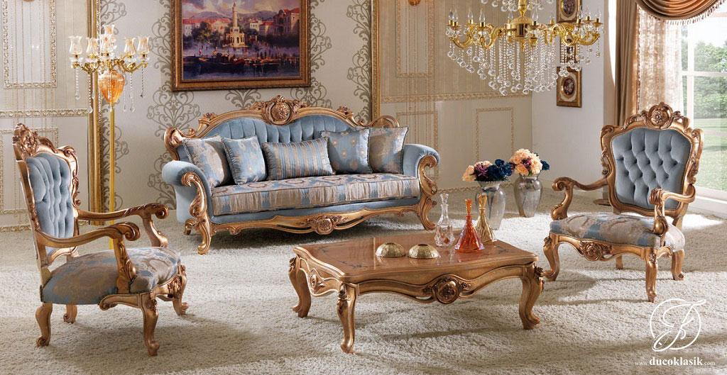 Kursi Sofa Tamu Klasik Camlica Ukir Mewah