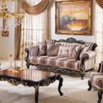Kursi Sofa Tamu Mewah Romawi Classic Black