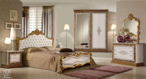 Set Kamar Tidur Jennifer Klasik Duco Gold