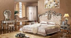 Set Kamar Tidur Klasik Mewah Ukir Italian