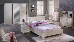 Set Kamar Tidur Minimalis Duco Putih Modern