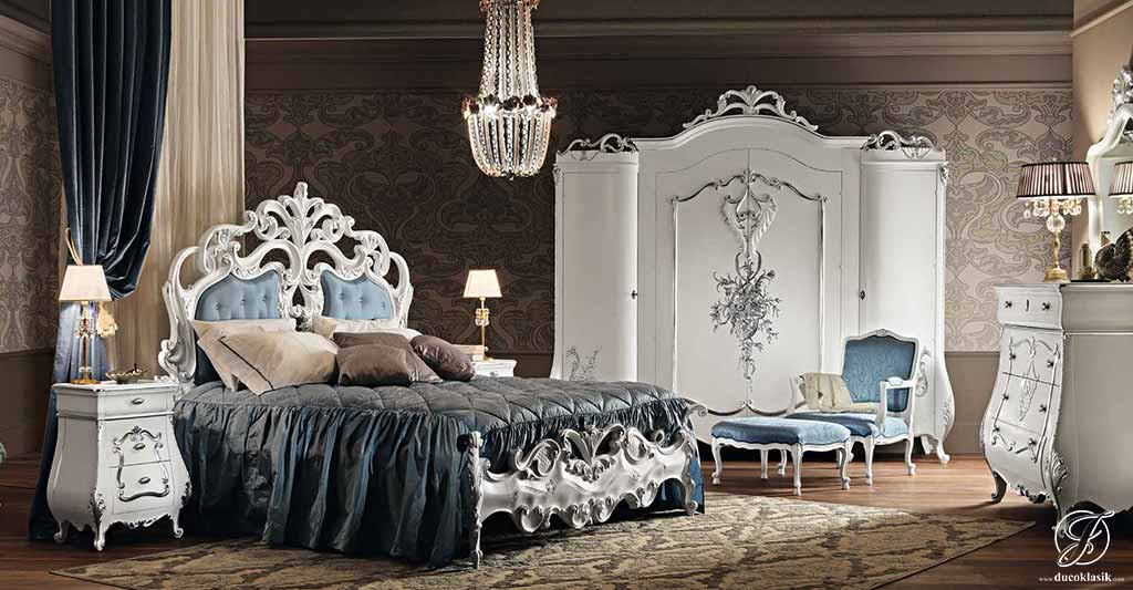 Set Kamar Tidur Rosalia Klasik Duco Putih