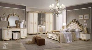 Set Kamar Tidur Ukir Klasik Emas Tatjana