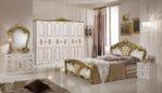 Set Kamar Tidur Ukir Napoli Duco Emas
