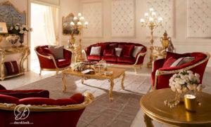 Set Kursi Sofa Tamu Modern Milan Emas
