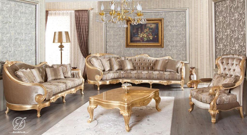Set Kursi Sofa Tamu Ukir Cardin Mewah
