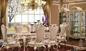 Set Meja Makan Duco Ukir Victoria Klasik