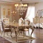 Set Meja Makan Klasik Ukir Duco Waldorf