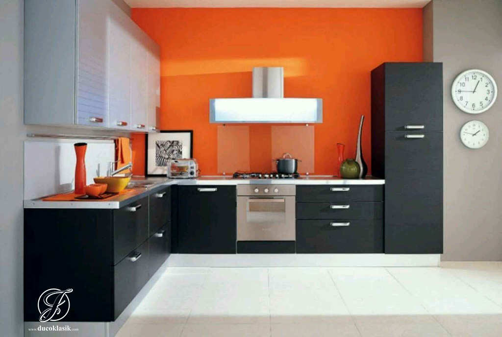 Kitchen Set Minimalis L Duco Black Doff