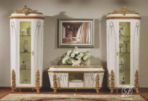 Set Bufet TV Mewah Ukir Cleopatra Klasik