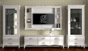 Set Bufet TV Minimalis Ramona Duco Putih