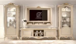 Set Bufet TV Minimalis Ukir Itali Klasik