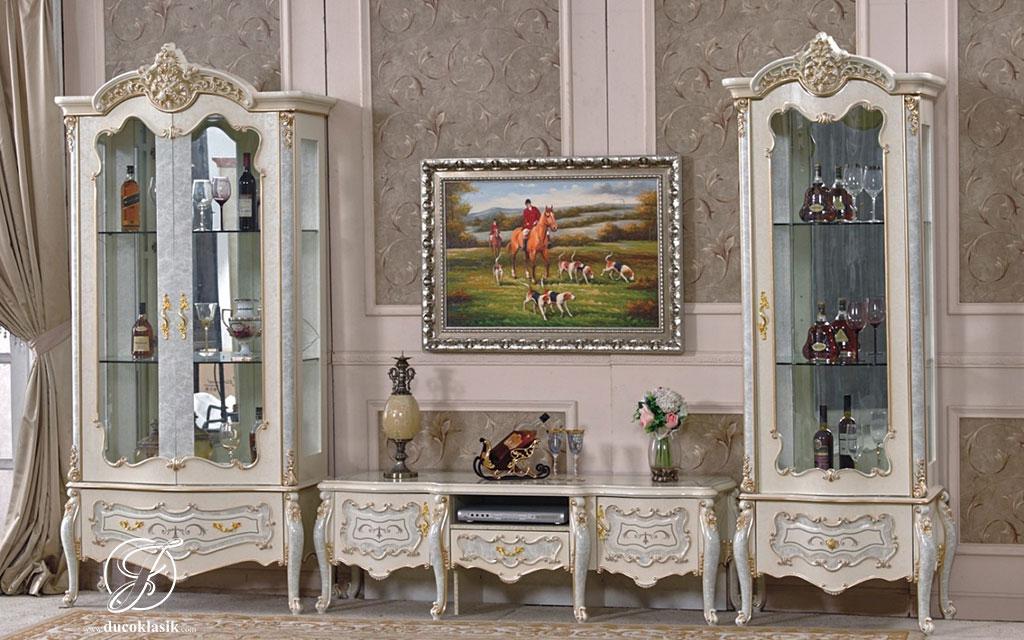 Set Bufet TV Ukir Duco Queen Klasik