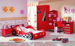 Set Kamar Anak Modern Mobil Balap F1