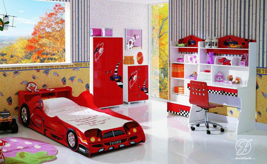 Jual Set Kamar Anak Modern Mobil Mewah | Furniture Duco Klasik