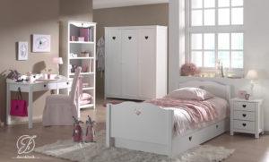 Set Kamar Anak Perempuan Minimalis Love Putih