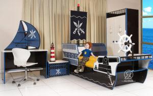 Set Kamar Tidur Anak Kapal Bajak Laut