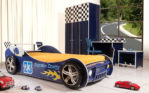 Set Kamar Tidur Anak Mobil Balap Modern