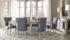 Set Meja Makan Minimalis Modern Duco Putih