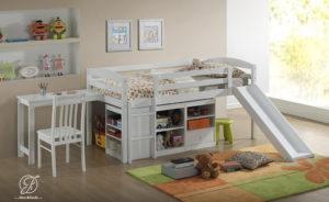Set Tempat Tidur Tingkat Minimalis Duco Putih