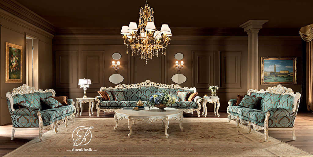 Set Kursi Sofa Tamu Duco Barocco Modern