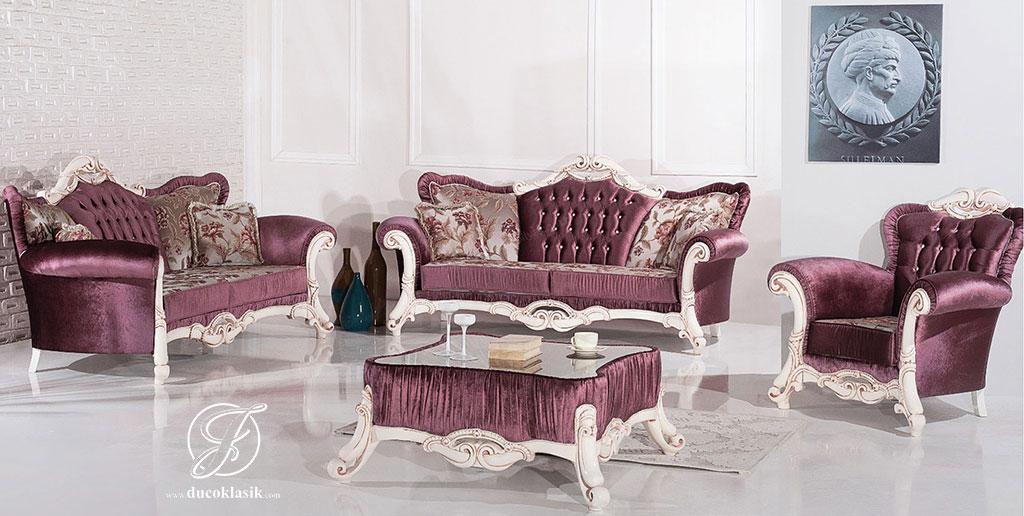 Set Kursi Sofa Tamu Duco Putih Evita