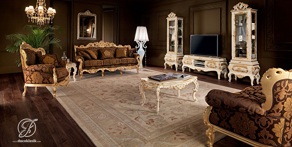 Set Kursi Sofa Tamu Klasik Eropa Minerva