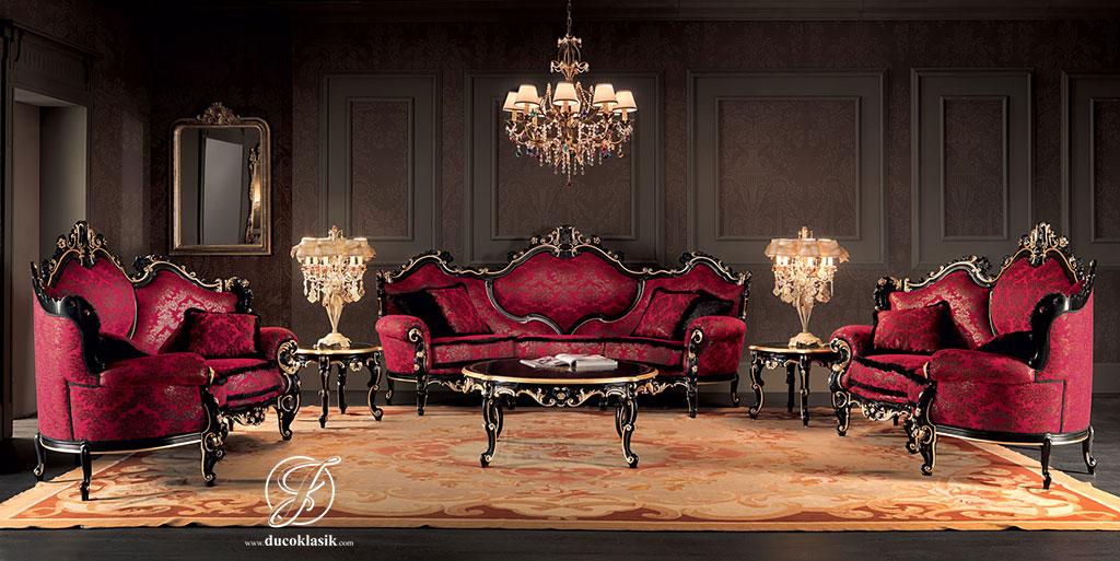 Set Kursi Sofa Tamu Klasik Royal Italian