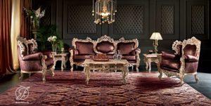 Set Kursi Sofa Tamu Royal Italia Klasik
