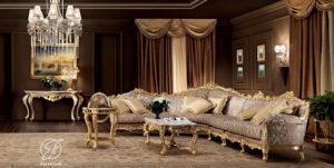 Set Kursi Sofa Tamu Sudut L Algedra