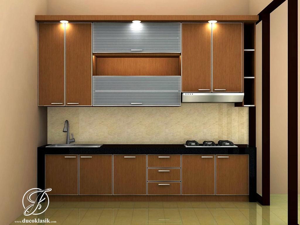 Jual Kitchen Set Minimalis Desain Simpel Modern Furniture Duco Klasik
