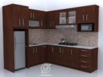 Kitchen Set Minimalis Natural Model L