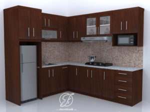 Jual Kitchen Set Minimalis Natural Model L Furniture Duco Klasik