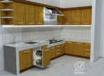 Kitchen Set Simpel L Minimalis Modern