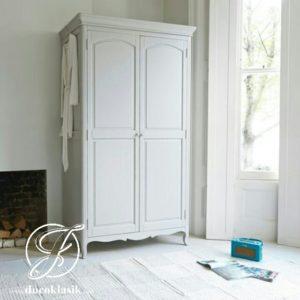 Lemari Pakaian 2 Pintu Minimalis Duco Klasik