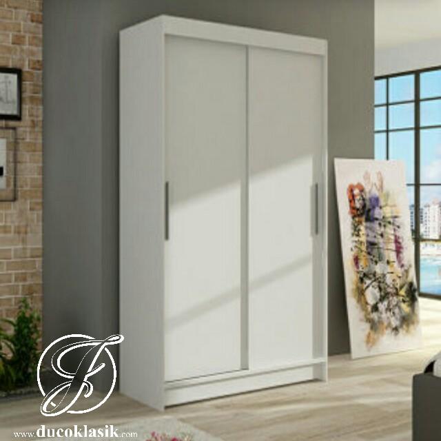 Jual Lemari Pakaian Minimalis 2 Pintu Sliding Furniture Duco Klasik