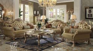 Set Kursi Sofa Tamu Duco Emas Mandarin