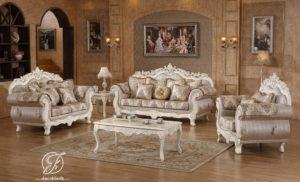 Set Kursi Sofa Tamu Duco Putih Serena