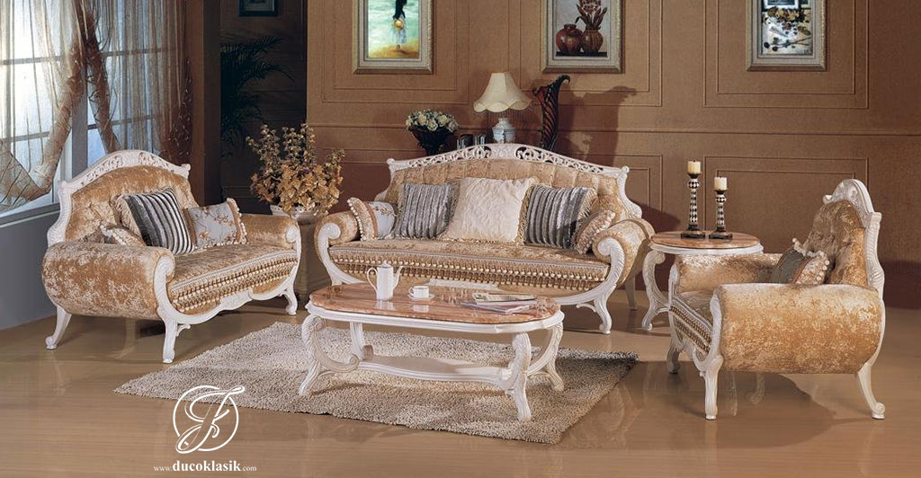Set Kursi Sofa Tamu Duco Racoco Modern