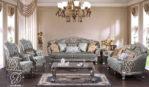 Set Kursi Sofa Tamu Duco Ukir Zara Silver