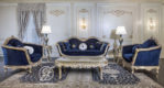 Set Kursi Sofa Tamu Klasik Baroque Emas