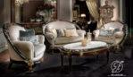 Set Kursi Sofa Tamu Mewah Ukir Glamor
