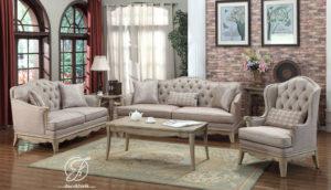 Set Kursi Sofa Tamu Minimalis Rustic Polyester