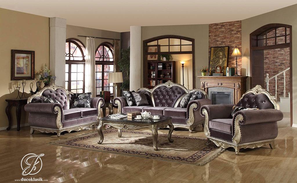 Set Kursi Sofa Tamu Modern Duco Roma