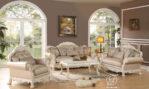 Set Kursi Sofa Tamu Putih Duco Dresden