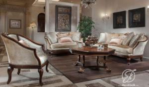 Set Kursi Sofa Tamu Ukir Nobi Klasik